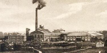 Das Titelbild der Topothek Leopoldsdorf: die Zuckerfabrik