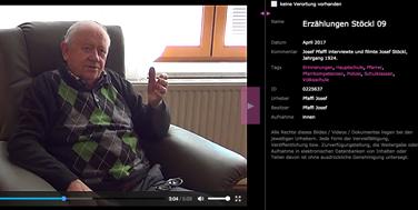 Josef Pfaffl erzählt über seine Jugenderlebnisse