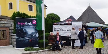 Zugang zum Topothek-Stand der Region Donau-Böhmerwald © Alexander Schatek