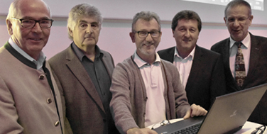 Franz Gartner, Eduard Födinger, Martin Nessl, Bgm Ing. Franz Brandl, Dr. Thomas Müller
