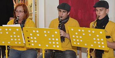 Die musikalische Umrahmung durch das Klarinetten-Ensemble der Blasumusik Sitzenberg-Reidling © Peter Bors