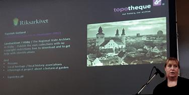 In Schweden ist, wie in anderen Ländern auch, das Nationalarchiv der Topothek-Partner