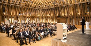 Der Kuppelsaal der TU Wien gab den feierlichen Rahmen für die Award-Verleihung. Foto: Martin Hörmandinger