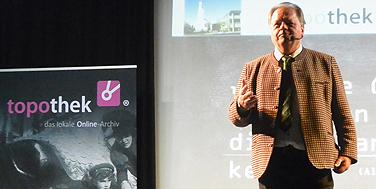 Topothekar Josef Schaberger bei der Ansprache