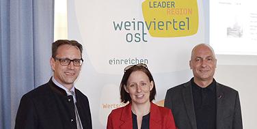 Bürgermeister Helmut Doschek, DI Christine Filipp, Alexander Schatek
